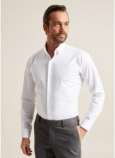 Bisse GM20K22170 Regular Fit Düz Klasik Gömlek Beyaz